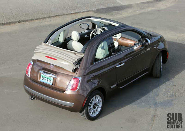 Fiat 500c with top down