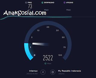 Proses Test Kecepatan di SpeedTest.Net