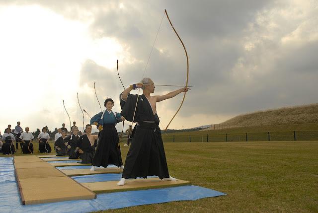 Arqueros tradicionales japoneses.