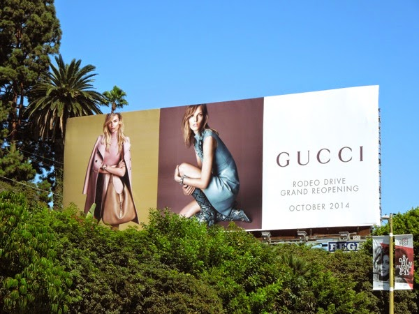 Gucci Rodeo Drive reopening Oct 2014 billboard