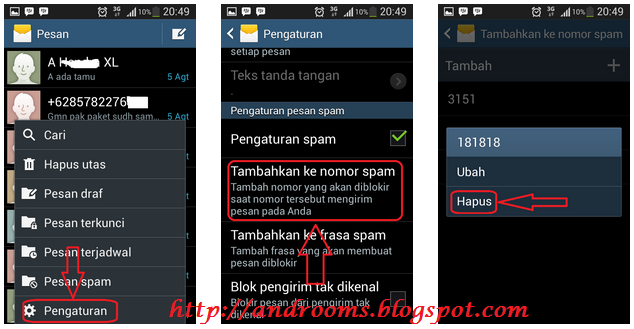 Cara Buka Blokir Nomor SMS di HP Android