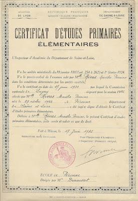 Certificat d'Etudes Primaires Élémentaires (1936)