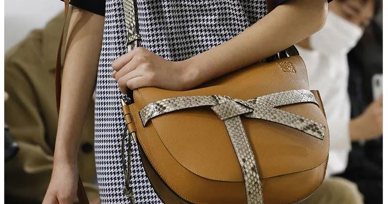 79d86fb780465 أجمل موديلات حقائب شتاء من اسبوع الموضة في باريس 2019