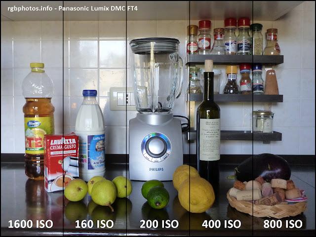 Qualità d'immagine della Panasonic FT4 a diversi ISO