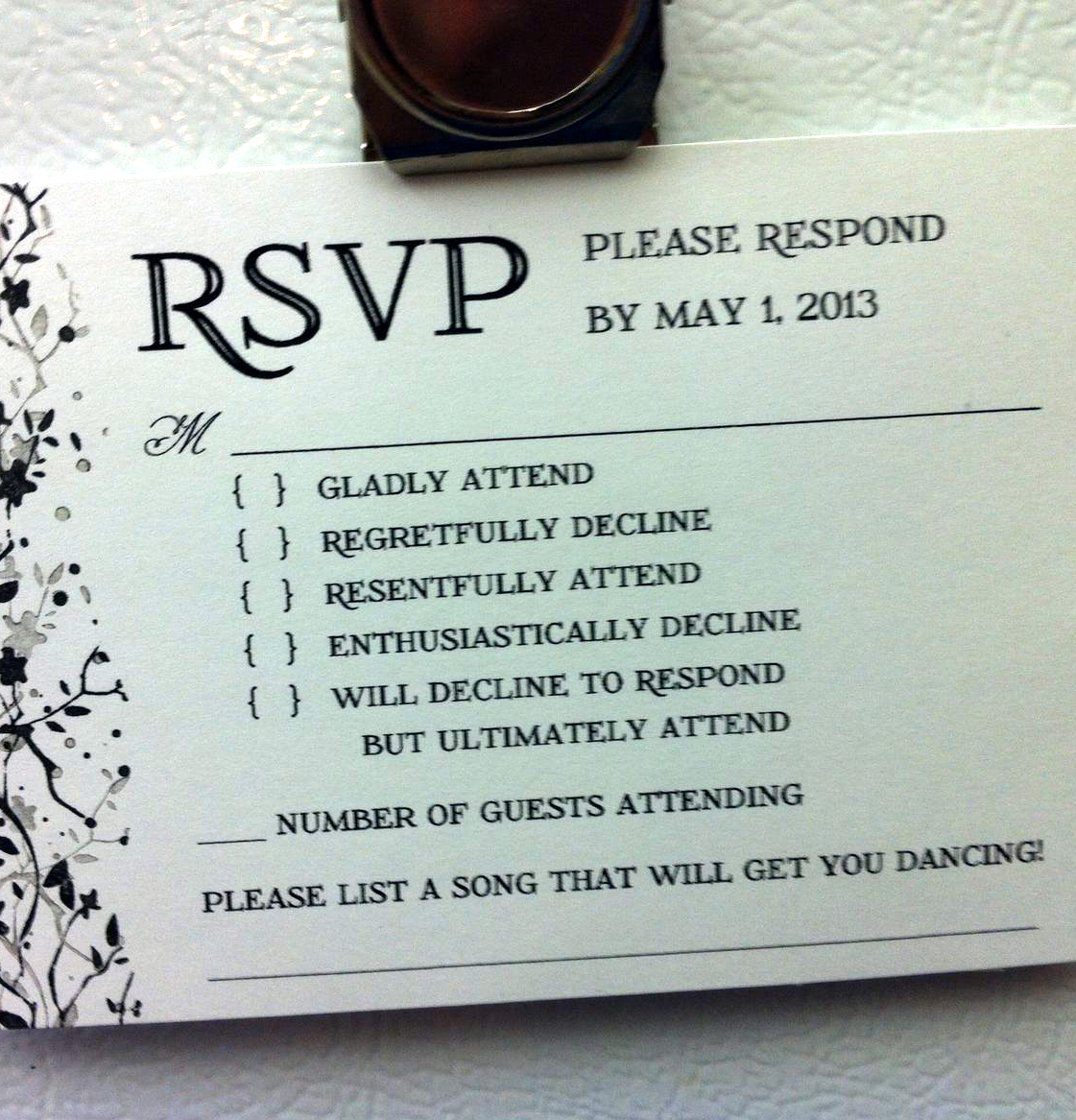 Wedding Reception Invitation Wording Funny: Funny Quotes Crazy Night Invitation. QuotesGram
