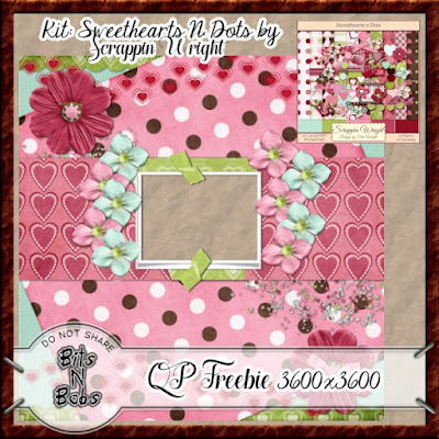 Sweethearts N Dots Layout and QP freebie