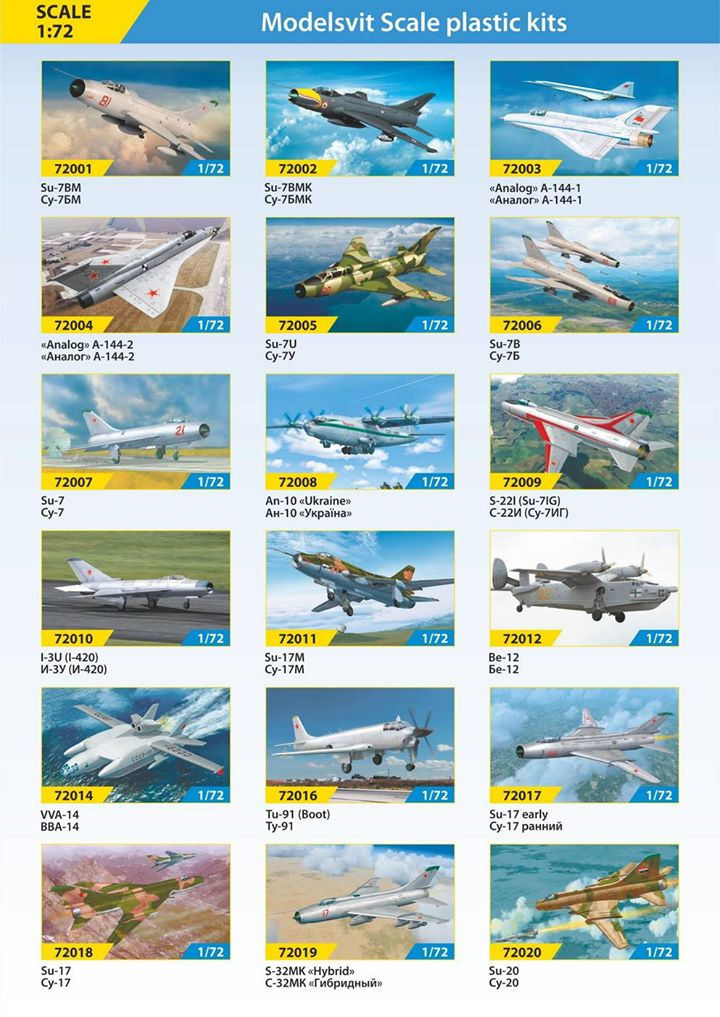 modelsvit catalogue 2017 newtools 1 72 aircraft news. Black Bedroom Furniture Sets. Home Design Ideas