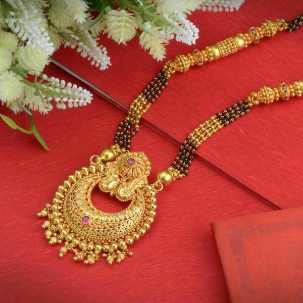 Golden Mangalsutra Designs