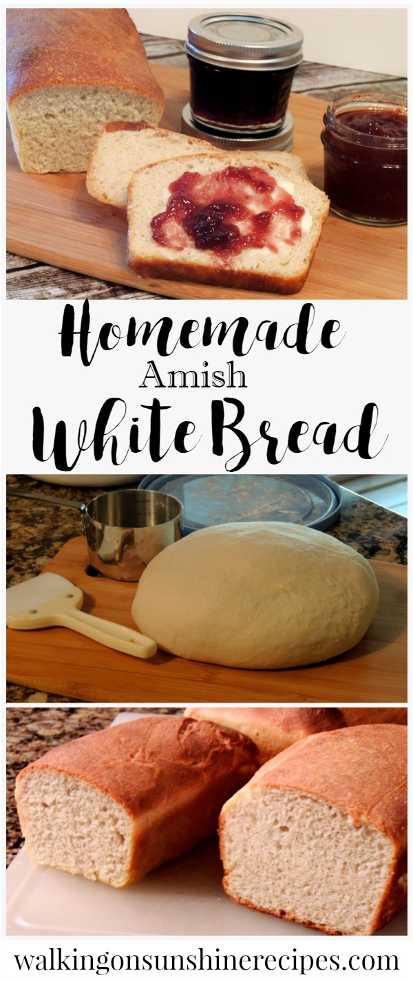 Homemade Amish White Bread Recipe from Walking on Sunshine