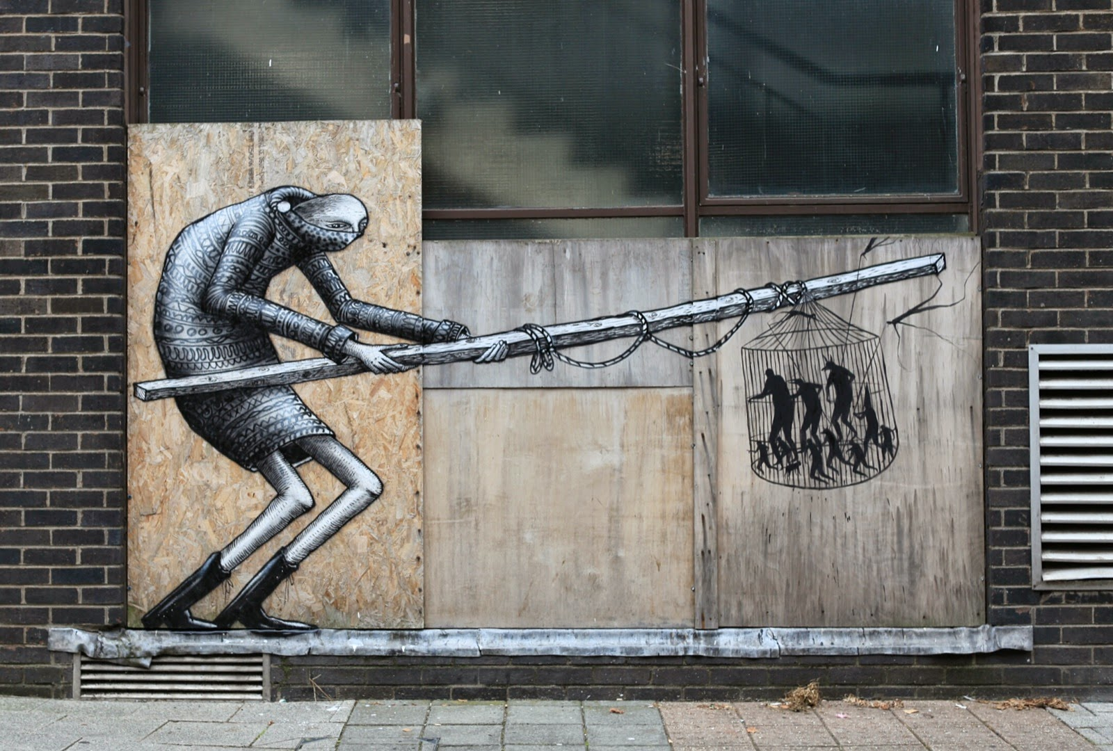 Phlegm and David De La Mano recently teamed up on the streets of Cardiff in South Wales to work on a new collaboration.