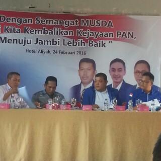 Breaking News..Musda DPD PAN Tebo Deadlock, Keputusan Diserahkan ke DPW