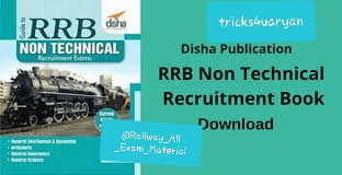 Disha Guide to RRB Non Technical Recruitment Book free PDF Download
