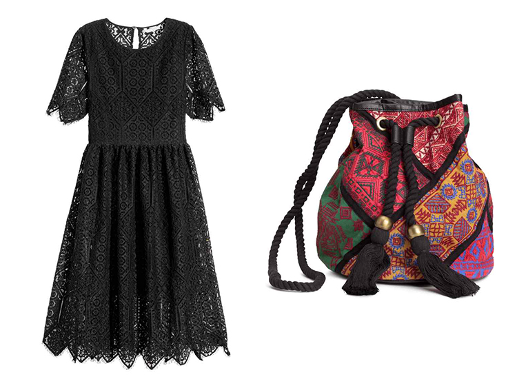 H&M spring collection dress and bag