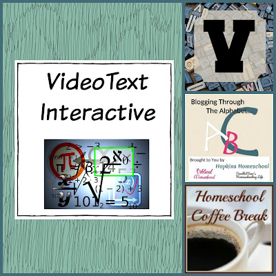 VideoText Interactive (Blogging Through the Alphabet) on Homeschool Coffee Break @ kympossibleblog.blogspot.com