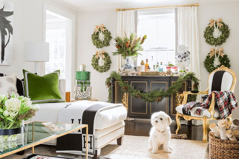 une d coration de no l cosy et festive louise grenadine. Black Bedroom Furniture Sets. Home Design Ideas