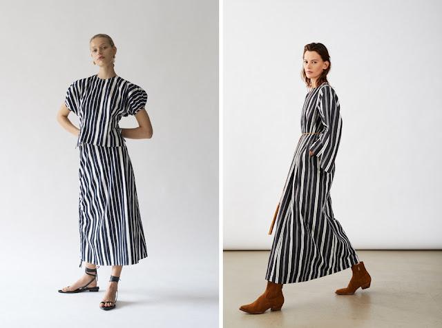Платье макси в контрастную полоску
