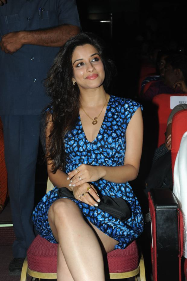 Glamorous & beautiful Madhurima at romance audio function pics looking hot & sexy in blue