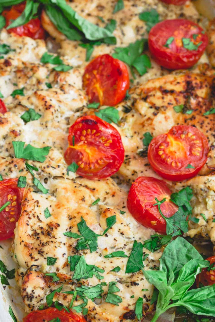 Easy Italian Baked Chicken Recipe