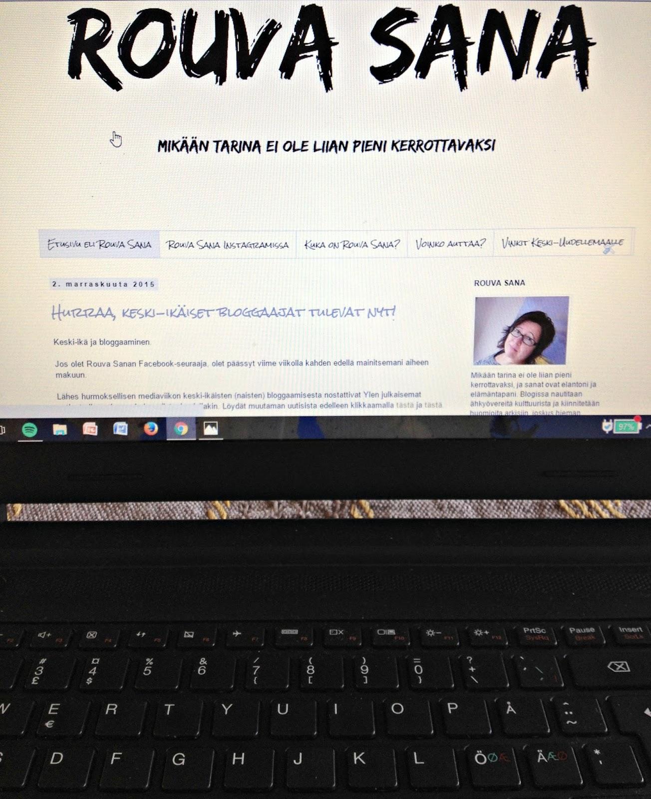 Blogi mahdollistaa oman osaamisen esiintuomisen