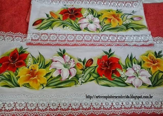 pintura em tecido flores passo a passo