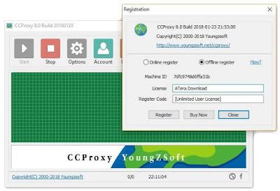 Screenshot CCProxy 8.0 Build 20180123 Full Version