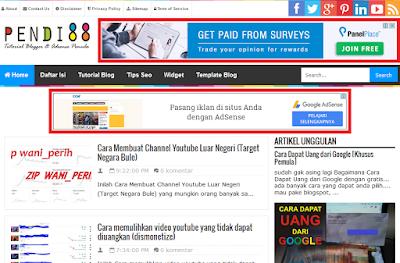 Panduan lengkap Cara memasang iklan google adsense pada blog untuk pemula