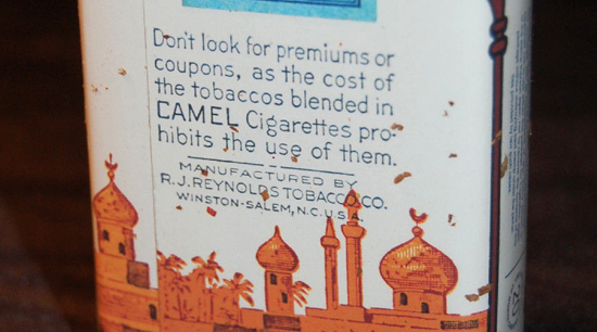 Camel pack 1913 back