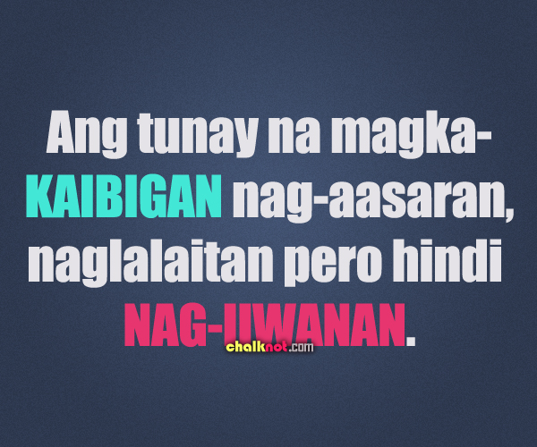 Friendship Quotes And Sayings Tagalog. QuotesGram