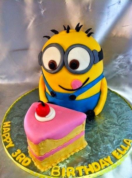 Pastel de cumpleaños Minions idea de decoracion