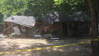 Neighbor bulldozes man's home after dispute