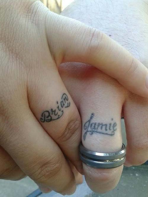 couple wedding ring finger name tattoo sevgili isim dövmesi parmak