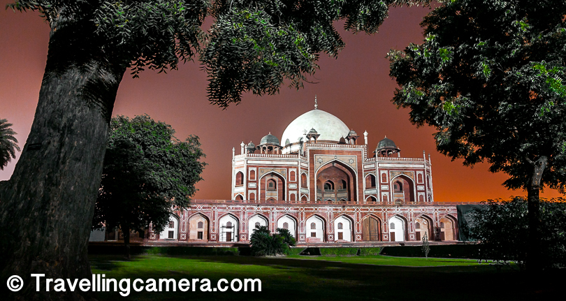 2. Humayun Tomb : Humanyun's Tomb is one of the 3 world heritage sites in Delhi and it looks like Taj Mahal but the it's built with red stone while Taj is built with white marble. This is one of my favorite places in Delhi because of the cleanliness and usually it's not as crowded as Qutub Minar and Red Fort.   Humayun's Tomb timings - Sunrise to Sunset Humayun's Tomb Entry ticket fees - 30 Rs for Indians and 500 Rs for Foreigners.  Ticket cost for camera - No Charges  Video Camera charges at Humayun's Tomb - 25 Rs Nearest Metro station : Jor Bag  3. Lunch at Khan Market : I am sure after exploring these 2 beauties of Delhi, you would be craving good food. Khan Market is a good place where you can find variety of food.