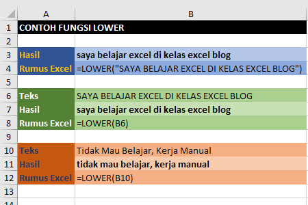 Contoh Fungsi Lower Excel