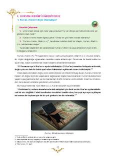 5. Sınıf Kuranı Kerim Ders Kitabı Cevapları Mevsim Yayınları Sayfa 12