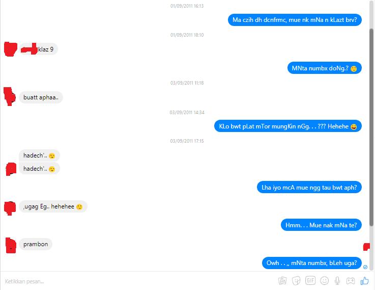 gaya chatting jaman dulu