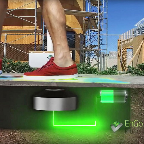 Tinuku EnGoPlanet installed smart street lights that harvest electrical energy using kinetic tiles of step pedestrians