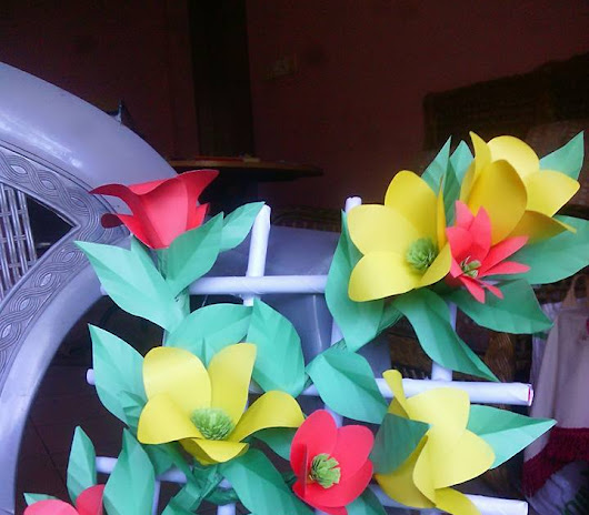 Origami flower for wall