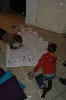 Renske Creatief Een Grote Kerstboom Kleurplaat Voor De Kinderen