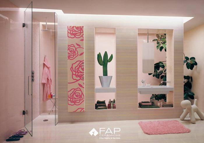 Ba os en color rosa ideas para decorar dise ar y for Cuartos de bano rosa
