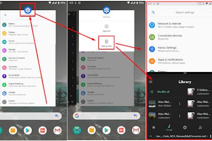 Cara Mengaktifkan sekaligus cara Menggunakan Split Screen Pada Android 9.0 atau Android Pie