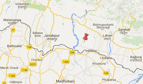 Earthquake epicenter map of Siraha, Nepal