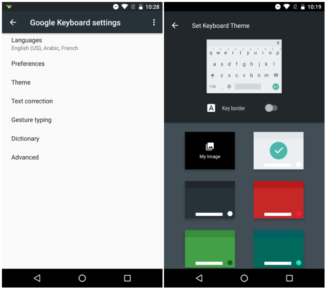 setting Google Keyboard