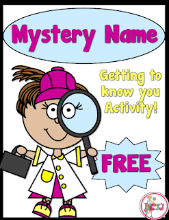 FREE Mystery Name. A getting to know you activity