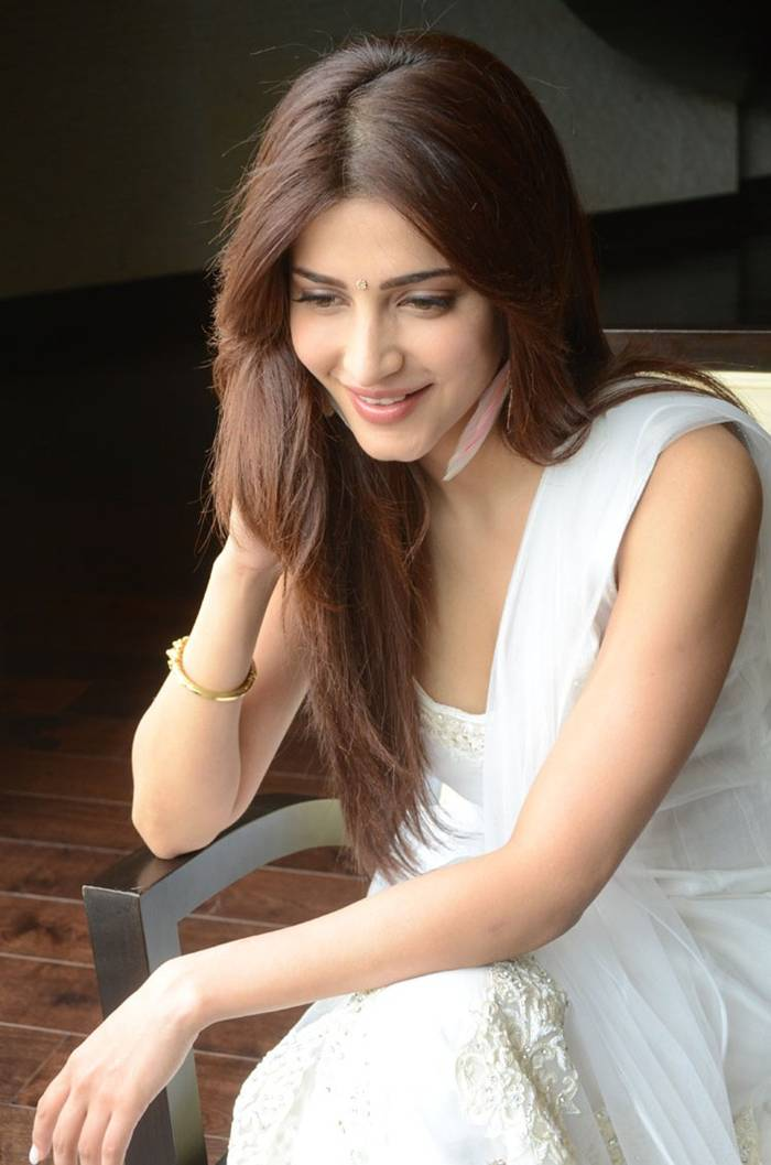 Shruti Hassan White Suit Photoshoot