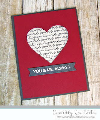 You & Me card-designed by Lori Tecler/Inking Aloud-stamps and dies from My Favorite Things