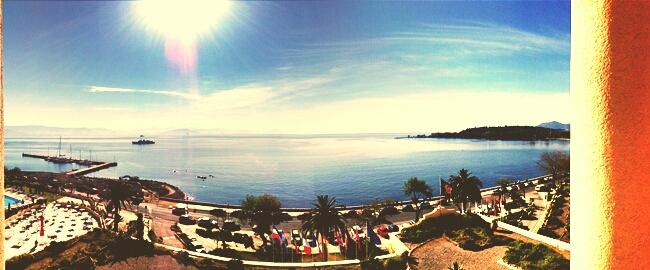 Corfu Palace hotel view