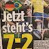 """Jornal alemão volta a provocar brasileiros: """"Agora está 7 a 2"""""""