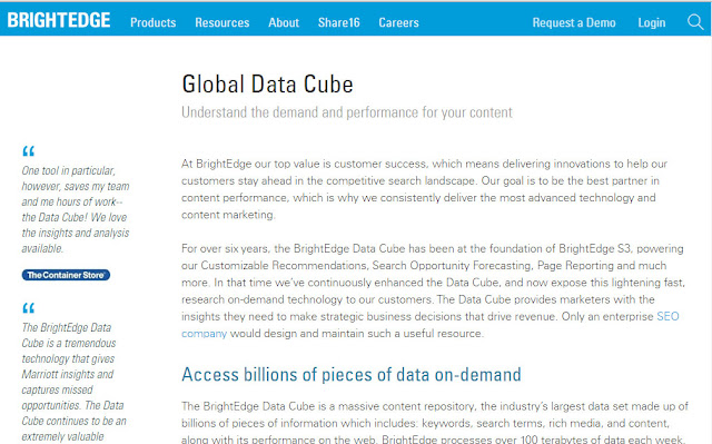 what is bright edge Global data cude?