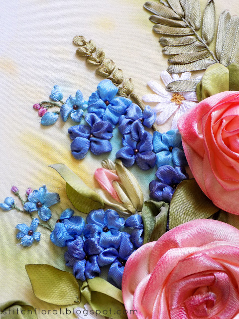 Stitch Floral ribbon embroidery