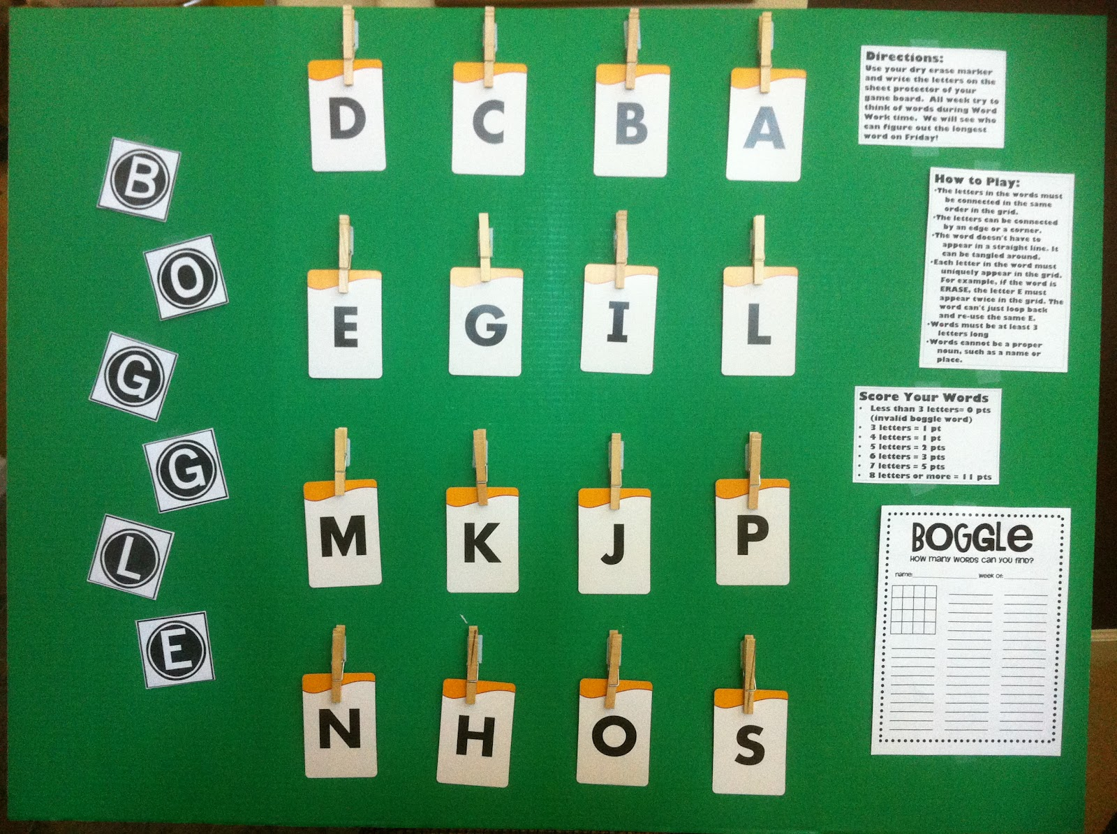 I Love My Classroom Boggle Game